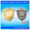 Oro del protector de la medalla del metal del recuerdo/medalla en blanco de la plata