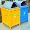 공장 가격 금속 프레임 쓰레기통, Eco-Friendly 옥외 담가 궤