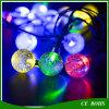 30 Lichten van het Koord van de Bal van de LEIDENE de Lichte Zonne Aangedreven Bel van de Fee Openlucht voor de Decoratieve Lamp van de Tuin van het Festival van Kerstmis