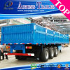三Axle Bulk Cargo Transporting 1800mm High Side Wall Semi Trailer