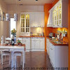 Moderner Entwurfs-festes Holz-Küche-Schrank