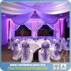 Großhandelsaluminiumhintergrund-rundes Rohr und drapiert für Hochzeits-Dekoration