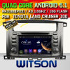 Carro DVD do Android 5.1 de Witson para o cruzador 100 da terra de Toyota (W2-A7071) com sustentação do Internet DVR da ROM WiFi 3G do chipset 1080P 8g