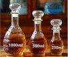 Bouteille transparente sans plomb scellée par bouteille de bouteille de vin de vin une série de caractéristiques