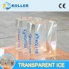 Transparente Eis-Block-Maschine für das Eis-Schnitzen beenden