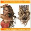 100%の人間の毛髪ボディ波状毛の拡張