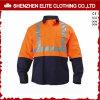Chemises r3fléchissantes en gros de travail de coton d'hommes de chemises de travail (ELTHVSI-4)
