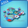 See-Rücksortierung-aufblasbare sich hin- und herbewegende Wasser-Park-Spiele, grosses aufblasbares Aqua-Park-Gerät