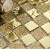 ミラーのタイルのBacksplashのシャワーのデザインによって映される芸術の装飾的な金のガラス質のガラスモザイク壁のタイル
