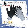 Crinkle латекса 13G 3/4 покрыл перчатку работы безопасности отрезока упорную