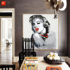 Картина маслом холстины портрета поп-звезды на печатях