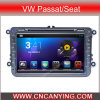 Reprodutor de DVD do carro para o reprodutor de DVD de Pure Android 4.4 Car com A9 o processador central Capacitive Touch Screen GPS Bluetooth para VW Passat/Seat (AD-8401)