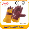 Red Furniture Cowhide Leather Industrial Hand Safety Work Gloves (310043)
