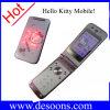 タッチ画面2のカードが付いているJinpeng W330のこんにちはキティの携帯電話