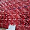 Folha de alumínio triangular perfurada, folheado de alumínio para fachada de construção