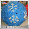 Bal van het Ornament van de blauwe LEIDENE van de Sneeuwvlok van de Slinger de Lichte Decoratie van het Motief