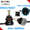 Poder más elevado H/L H4 H13 9004 linterna de 9007 automóviles LED