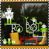De Sticker van de Achtergrond van de Vensters van de Robot van het Beeldverhaal van de Zaal van de Kinderen van de gift