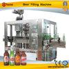 Automatisches Glasflaschen-Bier-füllende mit einer Kappe bedeckende Maschine
