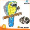 Выдвиженческий голубой и желтый значок орла металла эмали