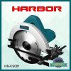 Hb-CS001 la circulaire de vente chaude du port 2016 a vu que l'axe en bois de machine de découpage de machine circulaire a vu