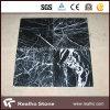 Mattonelle di marmo nere della Cina Nero Marquina di prezzi poco costosi con le vene bianche