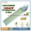 2016 la más nueva luz del PLC LED del G-24 de 15W E27 G23 con la salida más alta 160lm/W del mundo