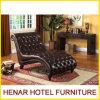 Sala de estar do Chaise do couro do sofá do sofá do dorminhoco da forma de S