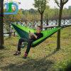 折る携帯用キャンプのパラシュートのナイロンハンモック
