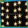 5m星の装飾が付いているハングの白いカラーLEDストリングライト