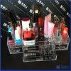 Visualización cosmética clara de acrílico de la venta caliente, visualización de la bandeja
