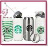 350ml 500ml crean vacío para requisitos particulares que el acero inoxidable puede ahuecar el vaso del café de Starbucks