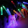 Iluminación de hadas del carámbano de la burbuja de la luz de la decoración de la fiesta de Navidad del jardín 50 solares de la luz de la cadena del LED Outdoot accionados