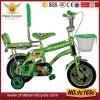 bicicleta verde de 20  miúdos com parte traseira da parte traseira, a cesta e a roda dobro do treinamento