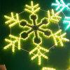 Décoration d'éclairages LED de Noël de centre commercial grande avec le modèle de flocon de neige