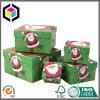 Rectángulos de regalo a todo color de la Navidad del papel de la cartulina de la impresión fijados