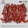 Fábrica Price Red Painted Lashing Chain com High Tensile Hook
