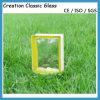 Lado amarelo bonito bloco de vidro nebuloso colorido