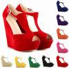 Sandalias cómodas de las mujeres de la correa de la punta del pío