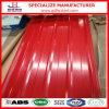 Lamiera sottile d'acciaio preverniciata del tetto di colore rosso di prezzi bassi