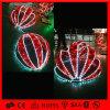 Bola encendida la Navidad de la decoración del jardín del adorno del LED