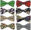 Cravates d'arc de jacquard du coton des hommes en gros de mode