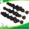 Оптовая шелковистая естественная черная объемная волна бразильянина волос девственницы