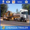 80ton Recessed Low Bed Trailer, 3axle Excavator Transport Lowbed Trailer