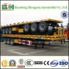 Op zwaar werk berekende 30ton 3 Axles 20FT 40FT Container Flatbed Truck Trailer