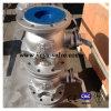 Шариковый клапан стали углерода DIN Pn16 Dn100 управляемый рукояткой