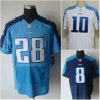 Armadio bianco Matt blu scuro Hasselbeck del Chris Johnson Jersey Jake dell'azzurro di cielo dell'elite o gioco
