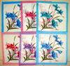 Madame fleur imprimée par coton 100% Handkerchief-003