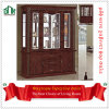 Wooden chinês Wine Cabinet 909# Classical Wine Cabinet com 4 Glass Doors