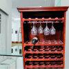 Het houten Kabinet van de Wijn van het Meubilair van het Huis Beste Verkopende met het Rek van het Glas van de Wijn